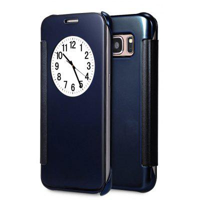 Buy DEEP BLUE Mirror Flip Cover PC Case for Samsung Galaxy S7 Edge for $2.44 in GearBest store