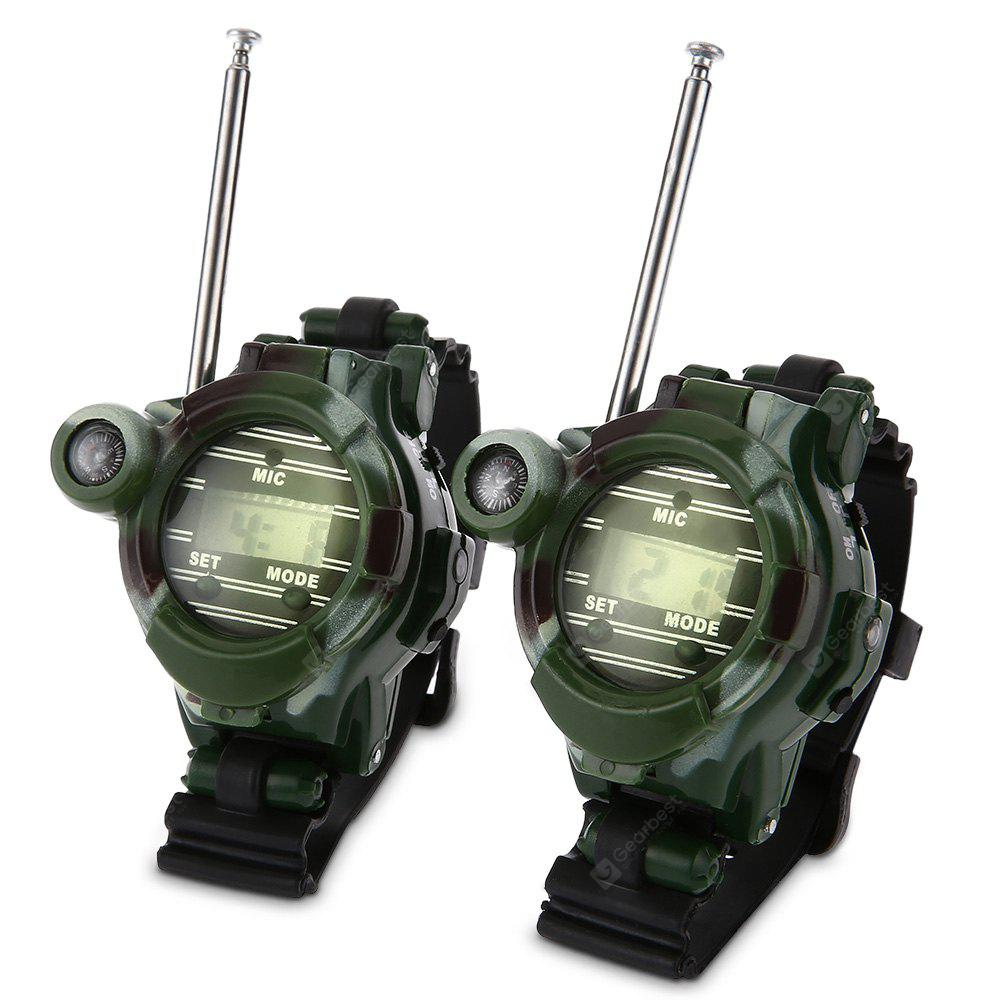 2pcs 7 in 1 Walkie Talkie Watch Toy for Children - CAMOUFLAGE