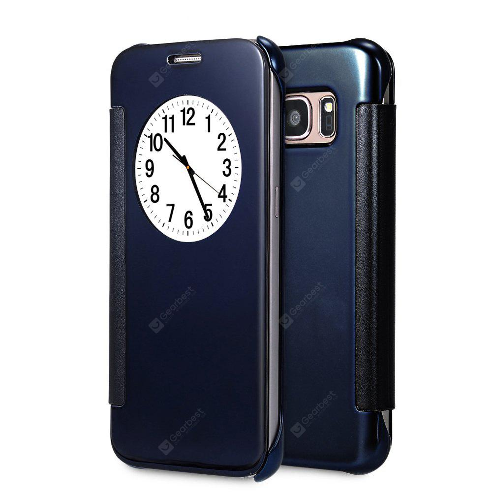 DEEP BLUE Mirror Flip Cover PC Case for Samsung Galaxy S7 Edge