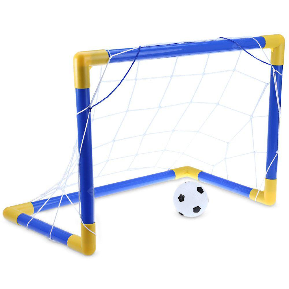 Mini Football Soccer Goal Post Net Set with Pump