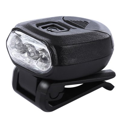 LEO Outdoor 3 LEDs Headlamp Clip Cap Lamp