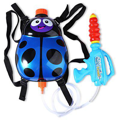 Kids Cute Ladybird Backpack Pressure Pump Squirt Gun