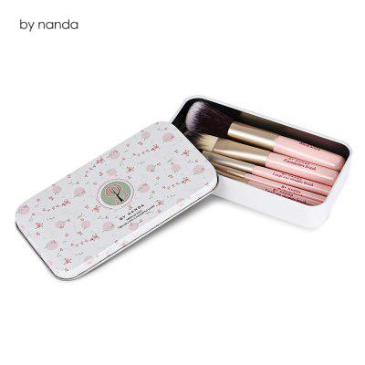 by nanda 7pcs Pink Makeup Brushes
