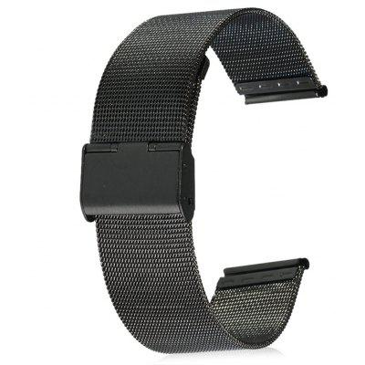 24mm Stainless Steel Mesh Watch Strap Folding Clasp with Safety