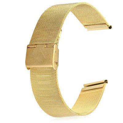 Buy 20mm Stainless Steel Mesh Watch Strap Folding Clasp with Safety, GOLDEN, Consumer Electronics, Smart Watch Accessories for $4.98 in GearBest store
