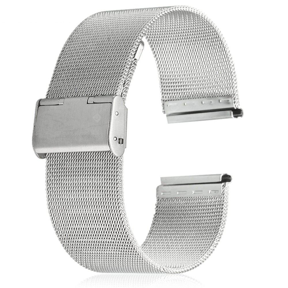 22mm Stainless Steel Mesh Watch Strap Folding Clasp with Safety