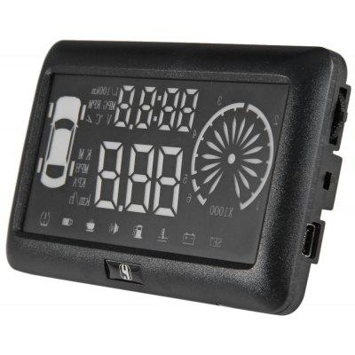 3 inch OBD II Car HUD Head Up Display Windscreen Projector with Speed Warning RPM MPH
