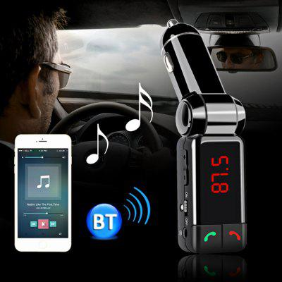 Bluetooth V2.0 Car Charger Wireless Stereo Handsfree MP3 PlayerFM Transmitters &amp; Players<br>Bluetooth V2.0 Car Charger Wireless Stereo Handsfree MP3 Player<br><br>Bluetooth protocol: A2DP<br>Bluetooth Version: 2.0<br>Color: Black<br>Degree of Distortion (%): &lt; 0.1%<br>Features: Controllable power switch, Breakpoint memory playing<br>Freq. Response: 20Hz - 15Khz<br>Media Format: MP3, WMA<br>Music Source: Flash drive,Cellphone<br>Package Contents: 1 x Bluetooth FM Transmitter Car Charger, 1 x Audio Cable, 1 x English User Manual<br>Package size (L x W x H): 12.00 x 5.00 x 2.50 cm / 4.72 x 1.97 x 0.98 inches<br>Package weight: 0.0900 kg<br>Product size (L x W x H): 11.50 x 2.50 x 2.00 cm / 4.53 x 0.98 x 0.79 inches<br>Product weight: 0.0440 kg<br>Transmit Distance: 10 - 15m<br>Type: Car MP3 Player<br>Voltage: 5V<br>Working Voltage: 12V