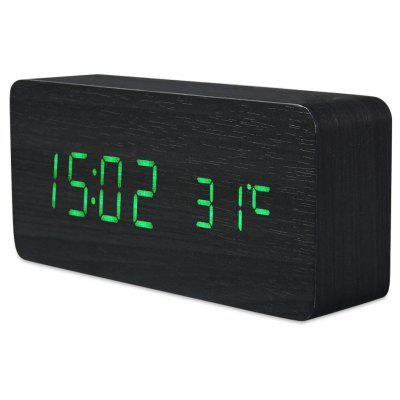 AJ6035 LED Wooden Clock