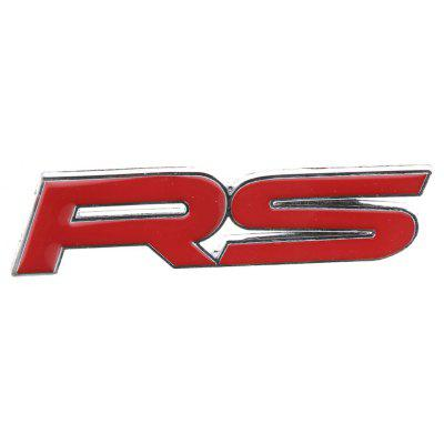 RS 3D Car Metal Modification Badge