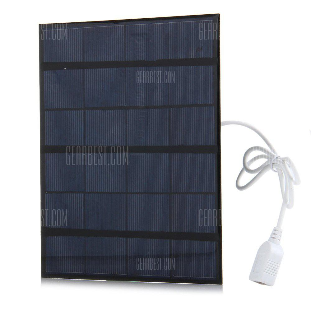 PURPLISH BLUE 3.5W 6V Solar Panel Power Bank Charger