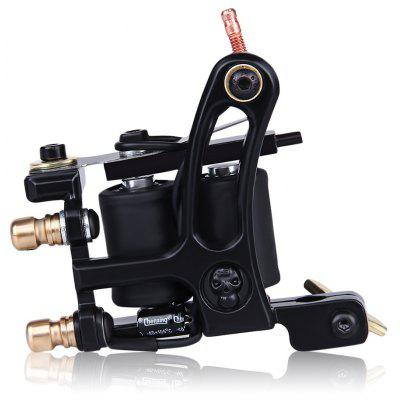 Electric Iron Tattoo Machine Gun 10 Wrap Coils Liner