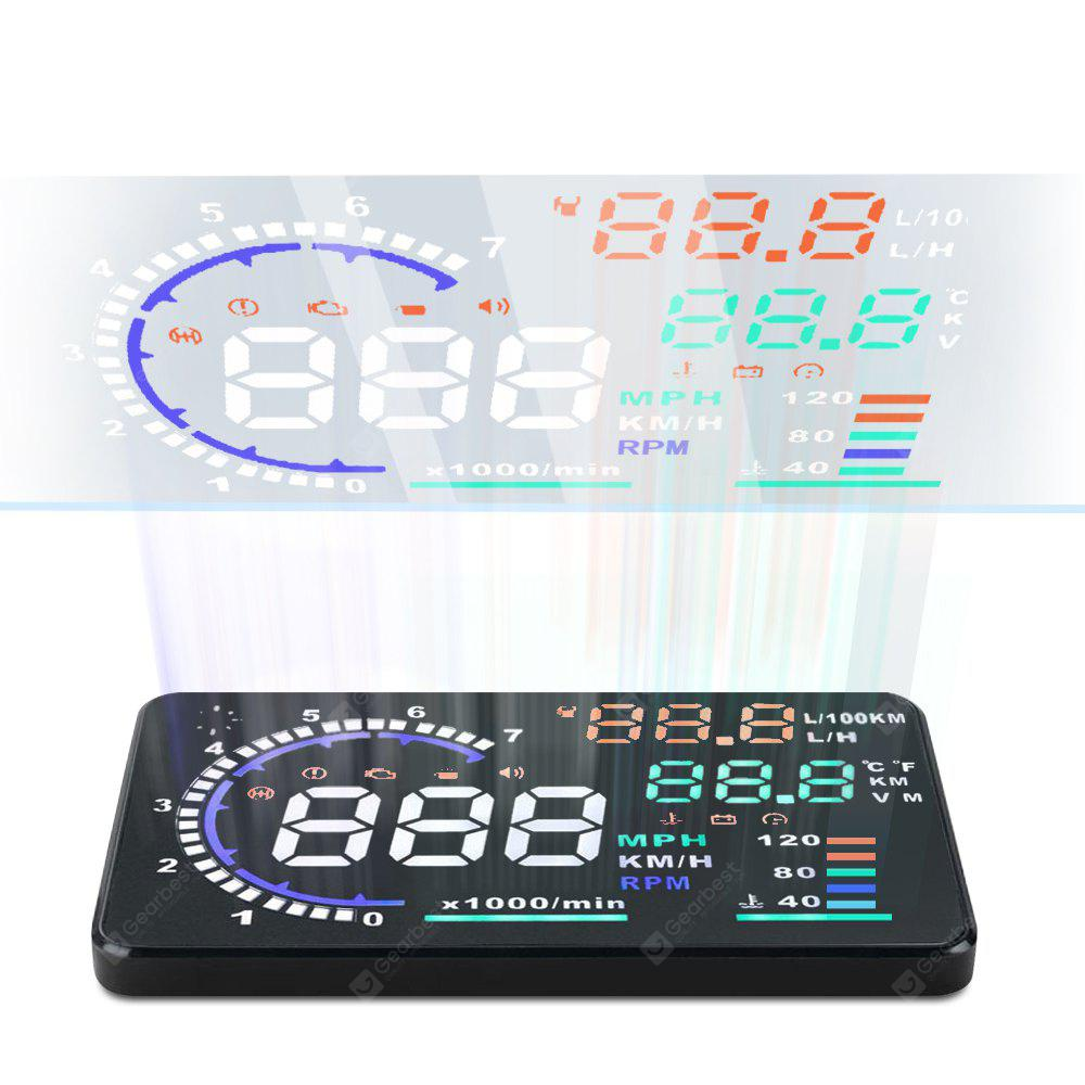 A8 55 Inch Obd Ii Car Hud Head Up Display Windscreen Projector With Obd2 Civic Ecu Wiring Diagram Further Push Button Start Speed Warning Rpm Mph 3315 Free Shipping