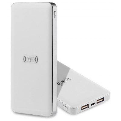 Smooth Cover Qi Wireless Charger 10000mAh Power Bank