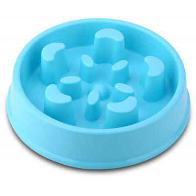 Flower Shape Plastic Pet Dog Food Bowl