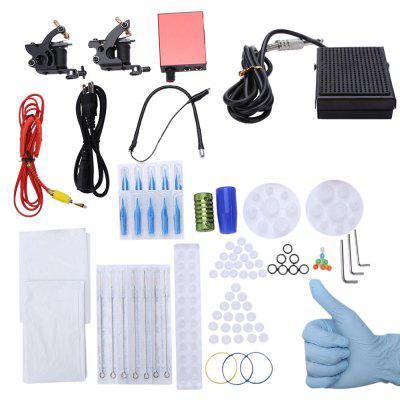 Tattoo Kit 2 Machine Guns Power Supply Tips