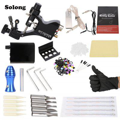 Solong Complete Tattoo Kit Professional Machine Gun