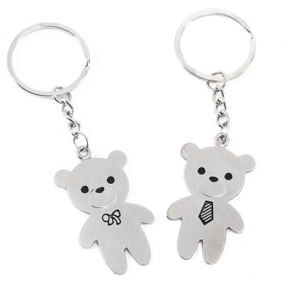 2pcs Lovely Bear Key Chain