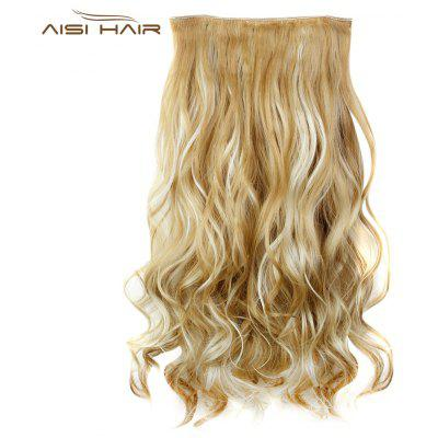 AISI HAIR Long Mixed Colours Curly 5 Clips en Extensiones de Cabello
