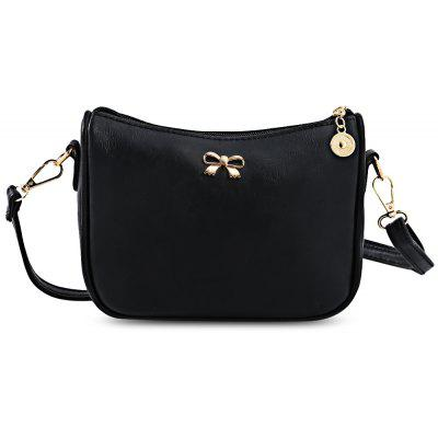 Guapabien Old Bowknot Embellishment Crossbody Bag
