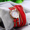 Women Antique Weave Bracelet Analog Wrist Watch photo
