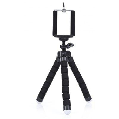 Gearbest SHOOT Handle Stabilizer Tripod for Phone Action Camera - BLACK