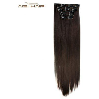 AISI HAIR 16 Clips Mujeres Straight Long Hair Extensions
