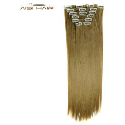 AISI HAIR 16 Clips Mulheres Straight Long Hair Extensions