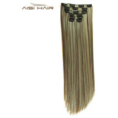 AISI HAIR Straight Long Resistant Hair Extensions for Women