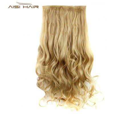 AISI HAIR Long Curly Synthetic 5 Clips in Wig Extensions