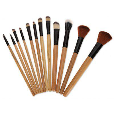 12pcs Portable Cosmetic Tool Powder Foundation Brush with Bag