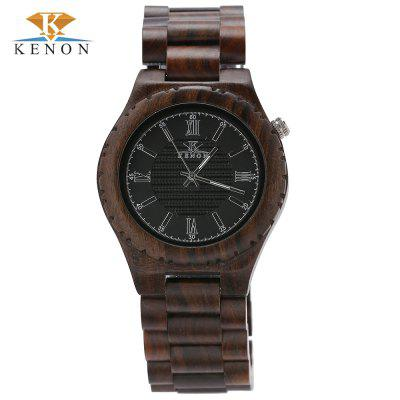 K KENON KWWT - 37 Male Wooden Quartz Watch