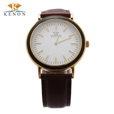 K KENON Male Wooden Dial Quartz Watch