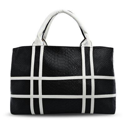 Guapabien Faddish Simple Striped Lady Handbag