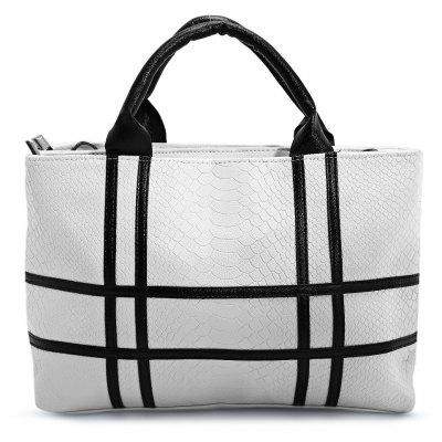 Guapabien Fashion Simple Striped Handbag for Women