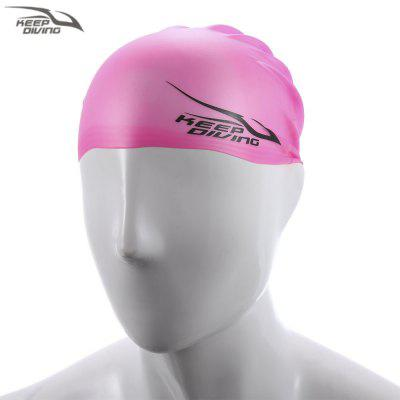 KEEPDIVING Unisex Hair Ear Care Hat Swimming Cap