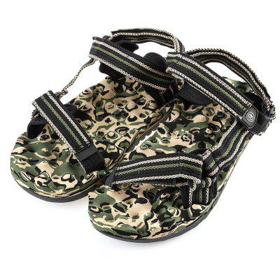 Military Print Magic Tape Sandales de massage pour plage masculine