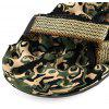 Militar Imprimir Magic Tape Male Beach Massage Sandals - CASTANHA