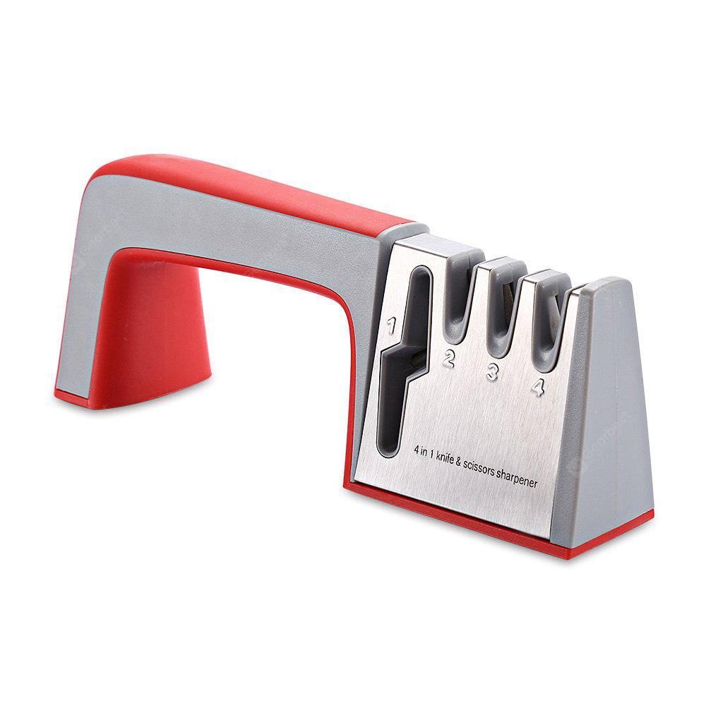 RED ZHAOLIDA Stainless Steel Manual Portable Knife Sharpener
