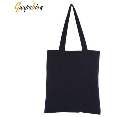 Guapabien Women Solid Color Open Canvas Cotton Thick Handcraft Portable Shoulder Bag