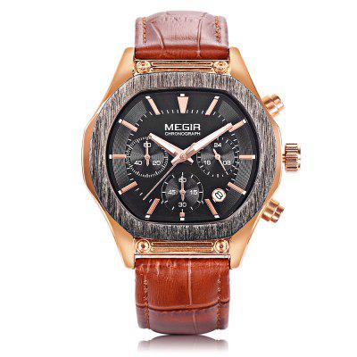 MEGIR M3014G Men Quartz WristwatchMens Watches<br>MEGIR M3014G Men Quartz Wristwatch<br><br>Band Length: 8.41 inch<br>Band Material Type: Leather<br>Band Width: 20mm<br>Brand: MEGIR<br>Case material: Alloy<br>Case Shape: Irregular Shape<br>Clasp type: Pin Buckle<br>Dial Diameter: 1.57 inch<br>Dial Display: Analog<br>Dial Window Material Type: Hardlex<br>Feature: Luminous, Date, Chronograph<br>Gender: Men<br>Movement: Quartz<br>Package Contents: 1 x Watch<br>Package Size(L x W x H): 12.00 x 7.50 x 7.00 cm / 4.72 x 2.95 x 2.76 inches<br>Package weight: 0.1740 kg<br>Product Size(L x W x H): 26.00 x 4.50 x 1.00 cm / 10.24 x 1.77 x 0.39 inches<br>Product weight: 0.0660 kg<br>Style: Business<br>Water Resistance Depth: 30m