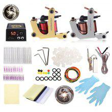 Gearbest WORMHOLE TATTOO Complete Kit 2 Machines Tools