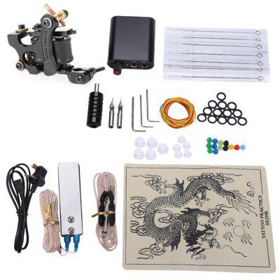 Complete Tattoo Kits 8 Wrap Coils Guns Machine