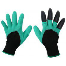 1 Pair Latex Garden Work Gloves Claws Design
