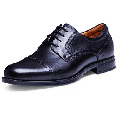 DESAI Business Pointed Toe Male Lace Up Leather Shoes
