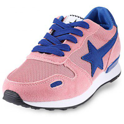 Buy PINK 38 Star Pattern Print Color Block Ladies Running Shoes for $18.47 in GearBest store