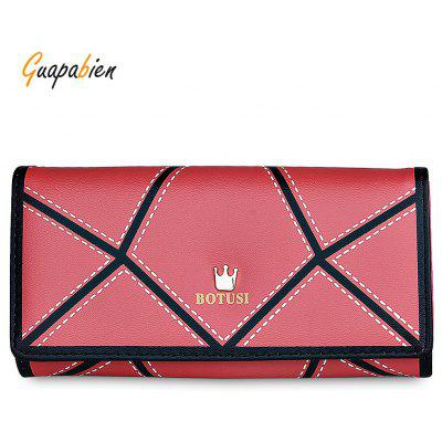 Guapabien PU Irregular Patterns Women Long Wallet
