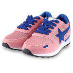 Star Pattern Print Color Block Ladies Running Shoes - ROSA