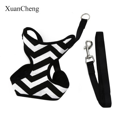 XuanCheng Pet Harness Leash Strap Soft Mesh Dog Cat Adjustable Stripe Vest Cloth