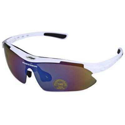 Buy WHITE ROBESBON 0089 Men Cycling Sunglass for $11.93 in GearBest store